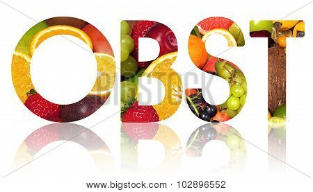 The Word Obst Cut Out