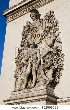 Arc De Triomphe - Sculpture Detail