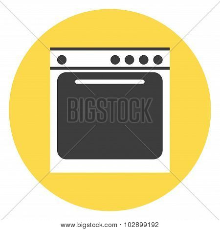 Isolated stove icon.