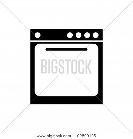 Stove. Isolated silhouette stove icon. Stove icon on white background.