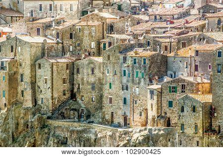 Pitigliano Houses Closeup - Grosseto - Tuscany