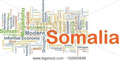 Background concept wordcloud illustration of Somalia