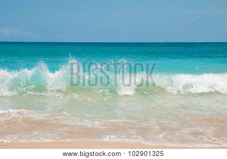 The waves at Dreamland beach