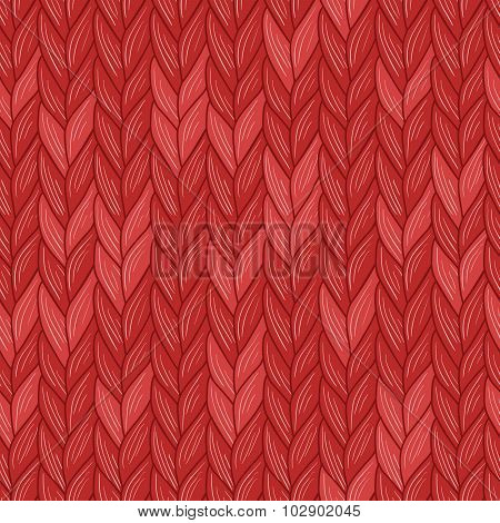 Knitted christmas red seamless pattern