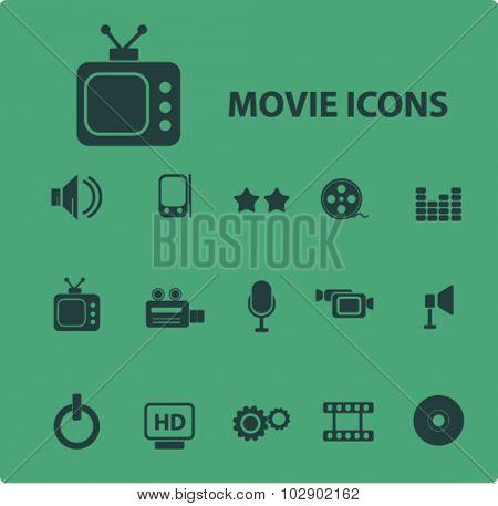 movie, cinema icons