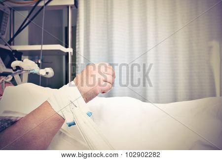 Hand Of Suffering Patient
