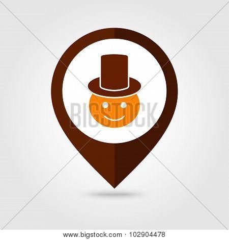 American Pilgrim mapping pin icon, Thanksgiving