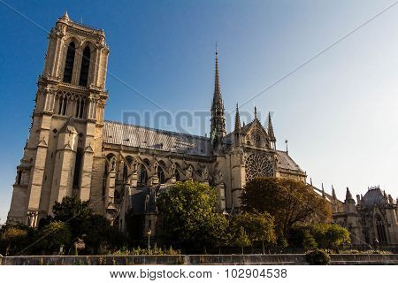 The Cathedral Notre Dame , Paris, France.