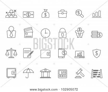 Painted with Lines Bank, Business and finance icons