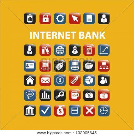internet bank icons