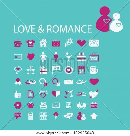 love, romance icons