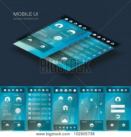 Flat design graphic user interface concept with text space suitable for infographics or advertisemen