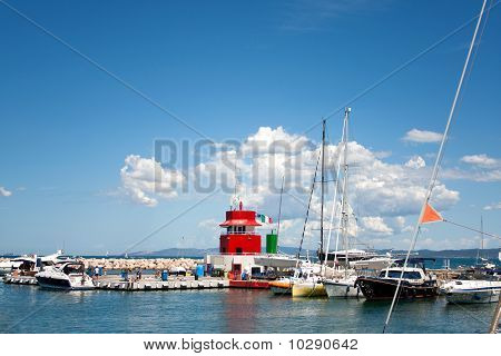 The Small Port Of Punta Ala, Tuscany, Italy
