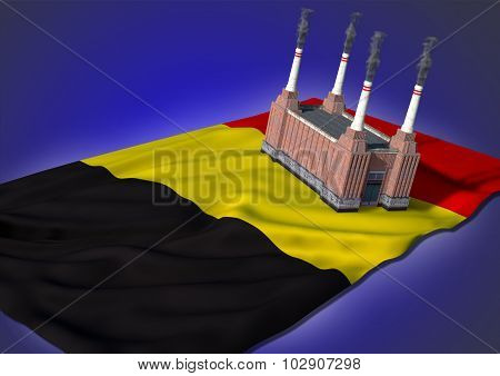 national heavy industry concept - Belgian theme