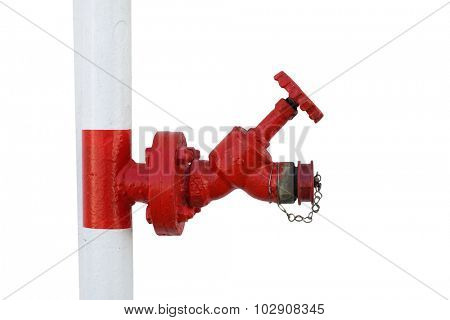 Red fire hydrant , isolated on white.