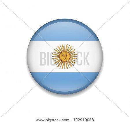 Argentina Button Flag