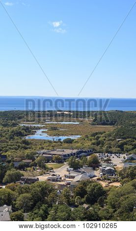Provincetown, Massachusetts, Cape Cod from above.