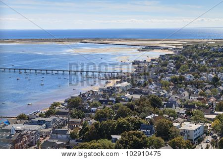 Provincetown, Massachusetts, Cape Cod from above