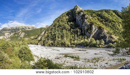 River La Bleone Near Prads In Region Alpes De Haute Provence