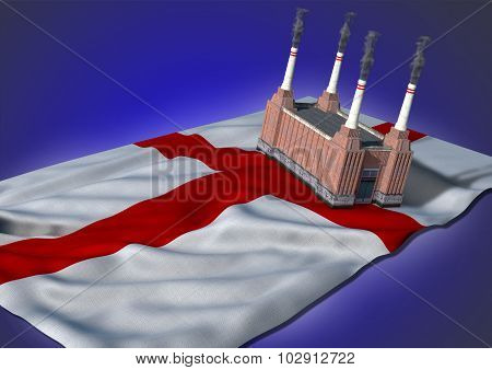 national heavy industry concept - England theme