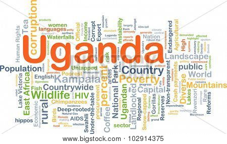 Background concept wordcloud illustration of Uganda
