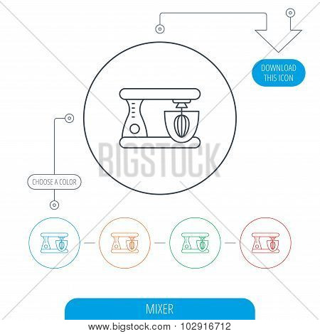 Mixer icon. Electric blender sign.