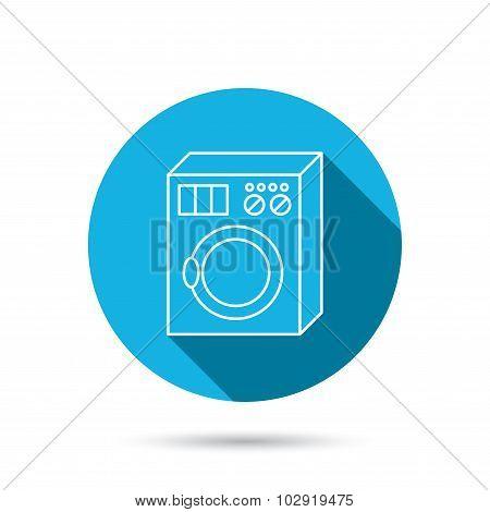 Washing machine icon. Washer sign.