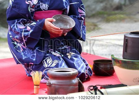 Japanese green tea ceremony