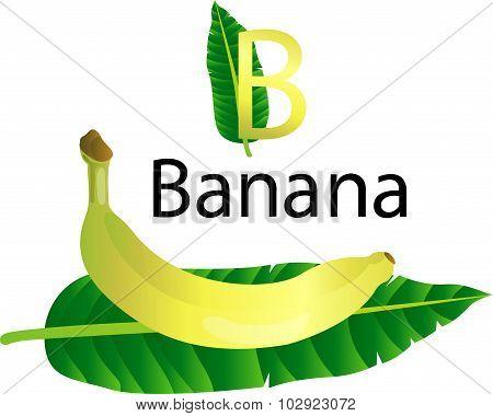 B Font with banana