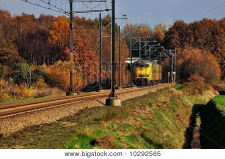 railroad with train