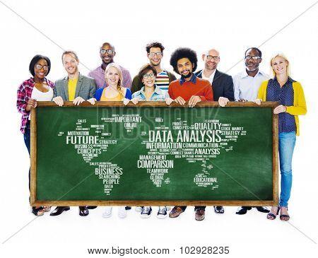 Data Analysis Analytics Comparison Information Networking Concept