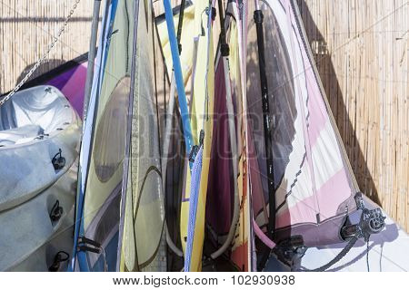 Windsurf Sails Background