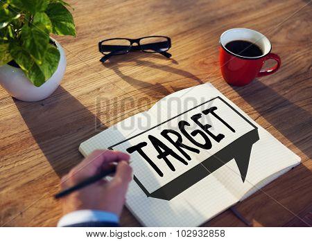 Target Aim Goal Inspiration Solution Success Vision Concept