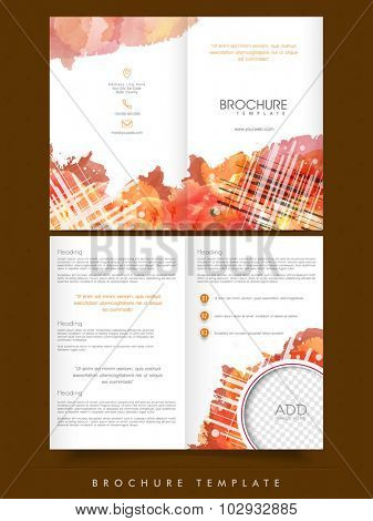 Creative abstract Business Brochure, Template or Flyer design with space for your image.