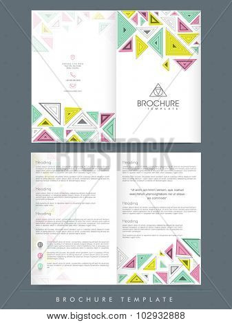 Creative professional Brochure, Template or Flyer presentation with abstract design for your Business.