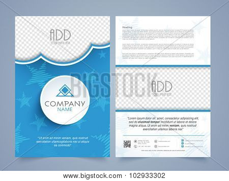 Creative professional Business Brochure, Flyer or Template design with space for your image and company informations.