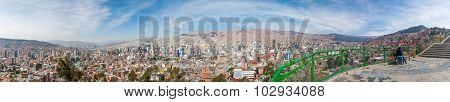 Panorma 360 Cityscape La Paz, Bolivia
