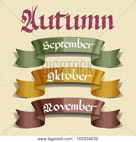 Autumn months September October November