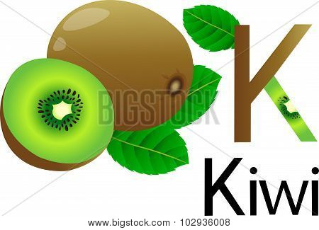 K font with kiwi