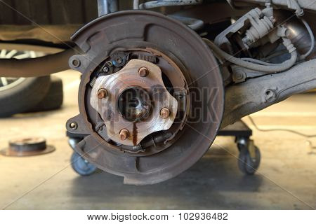 disk brake hub of the car