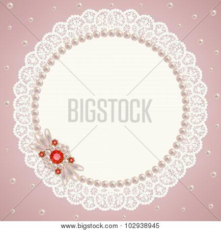 Lace pearl napkin
