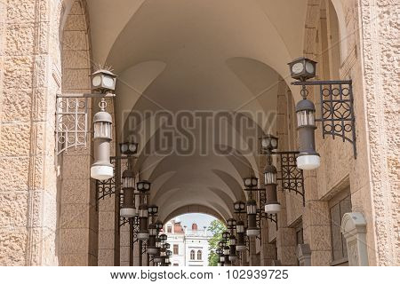 ancient archway in the beautiful town Goerlitz