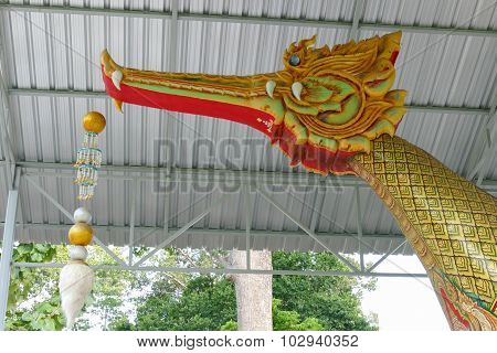Prow Of A Ship In Asian Golden Swan Shape