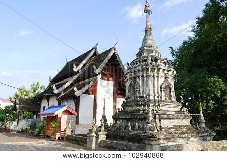 Ancient Historical Buddhist Pagoda Monument And Temple Church