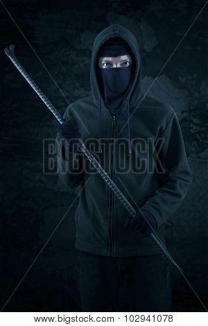 Male Thief Holding Crowbar 1