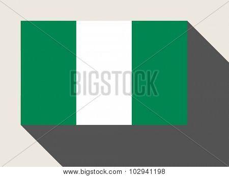Nigeria flag in flat web design style.