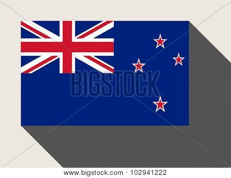 New Zealand flag in flat web design style.