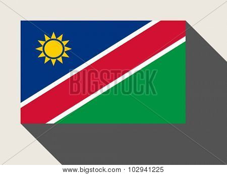 Nambia flag in flat web design style.