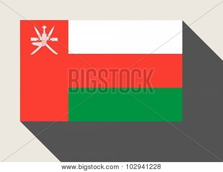 Oman flag in flat web design style.