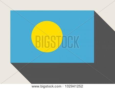 Palau flag in flat web design style.